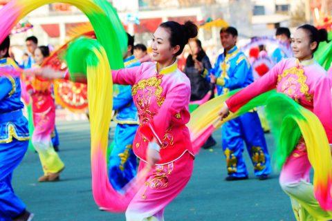 安塞腰鼓参加2019台湾南投灯会新春特别演出